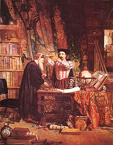 """The Alchemist"", by Sir William Douglas, 1855"