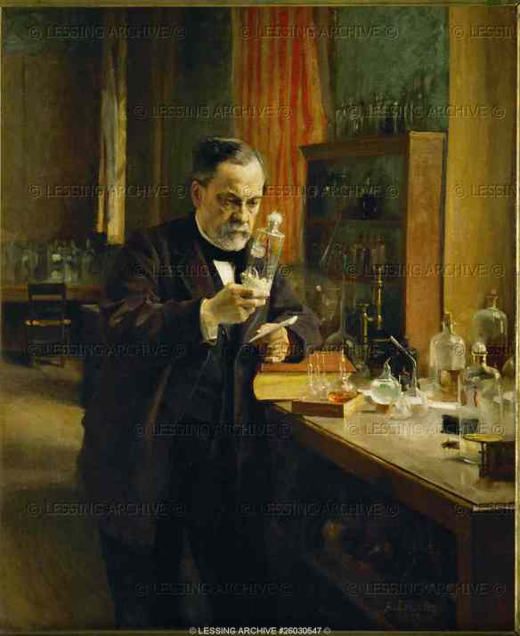 Louis Pasteur in his laboratory. The great French chemist and microbiologist discovered and developed various vaccines, among them that against rabies. 1885. Oil on canvas, 1,54 x 1,26 cm DO 1986-16