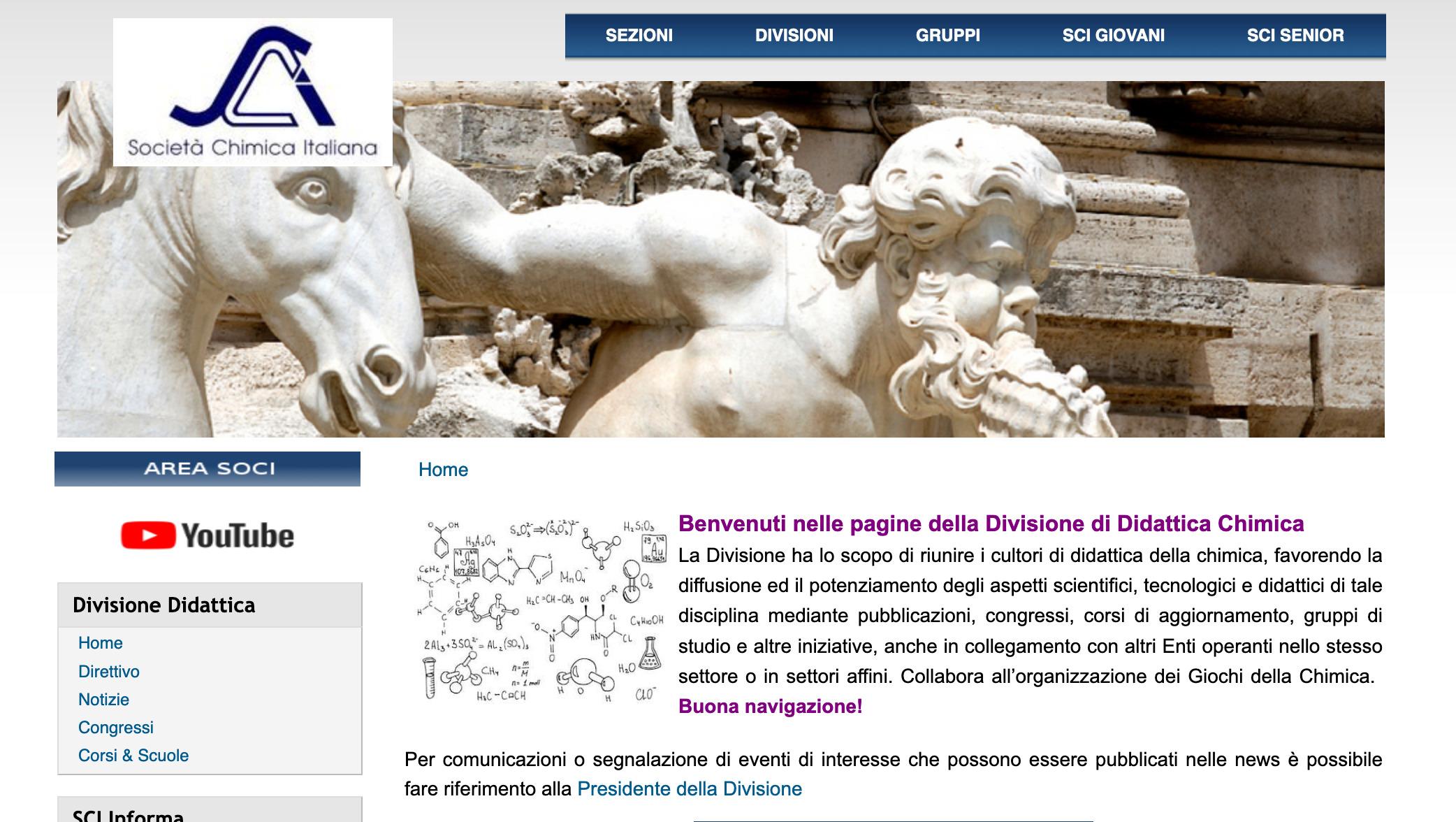 Screenshot_2020-05-02 Home didattica Società Chimica Italiana